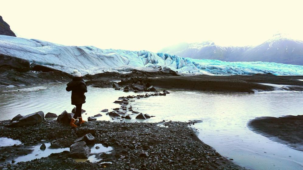 Skaftafell national park, near the glacier